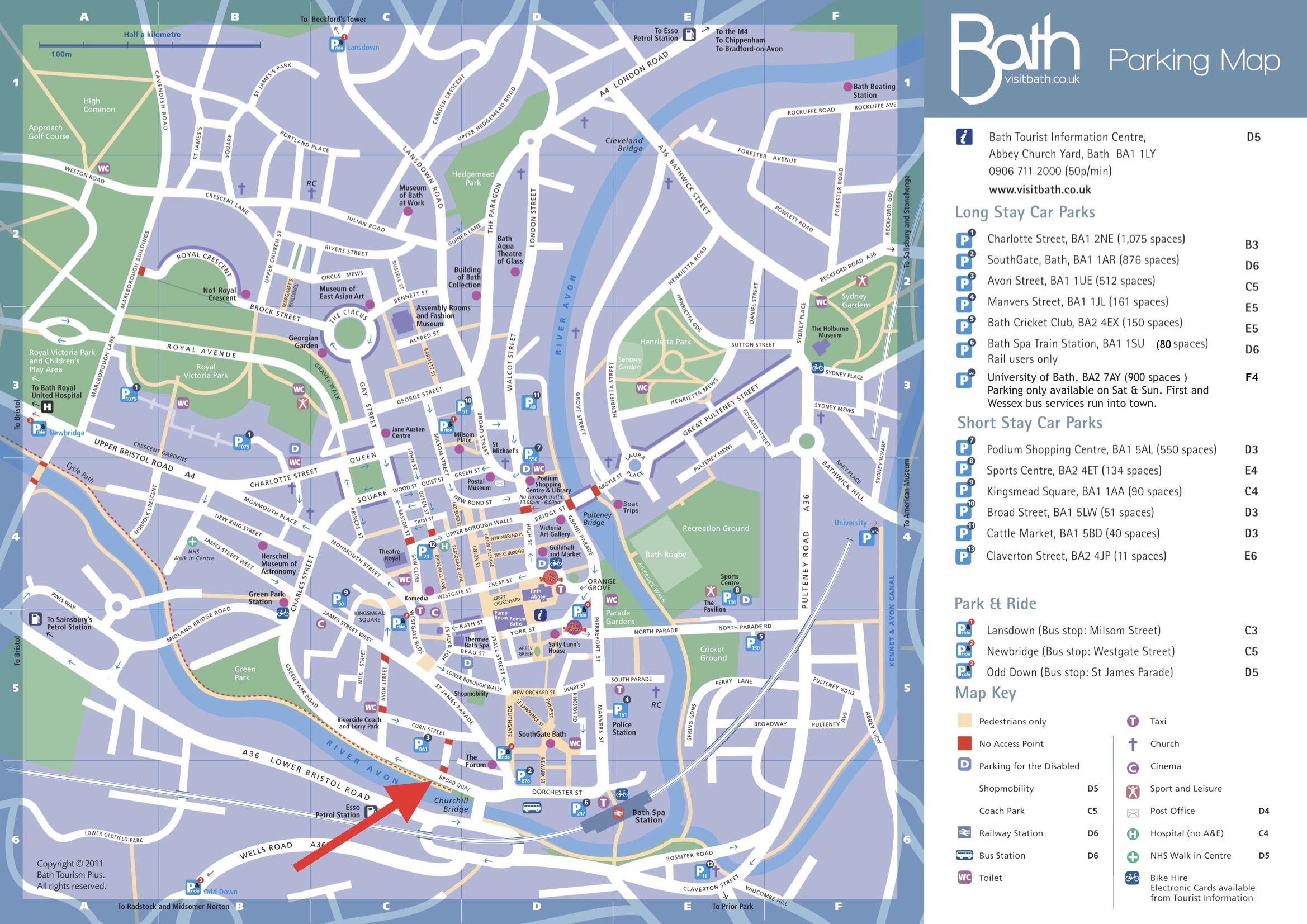 Bath Location Map Broad Quay