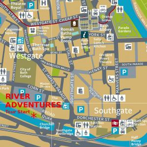 Bath Tours Location Map